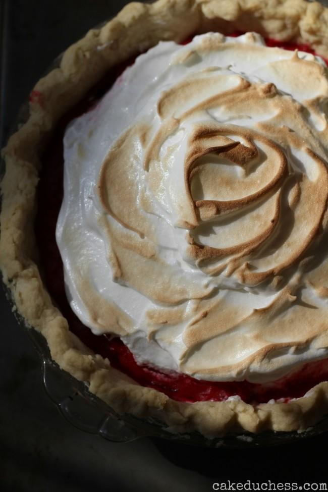 Cranberry Meringue Pie