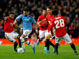 Manchester United vs Manchester city. PHOTO | BBC