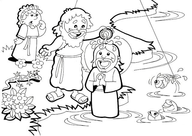Parroquia La Inmaculada: Bautismo de Jesús: Muchas fichas para niños
