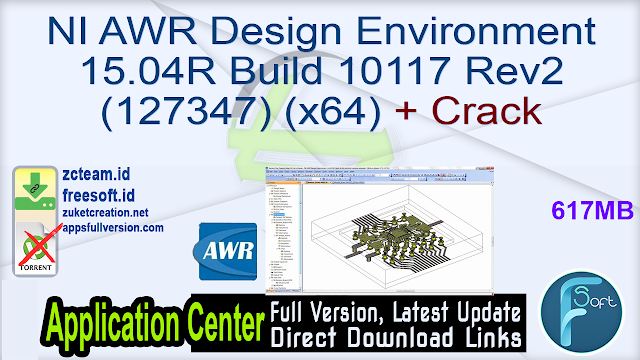 NI AWR Design Environment 15.04R Build 10117 Rev2 (127347) (x64) + Crack_ ZcTeam.id