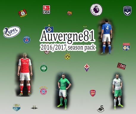 PES 2013 auvergnat kitpack season 2016/2017 by auvergne81