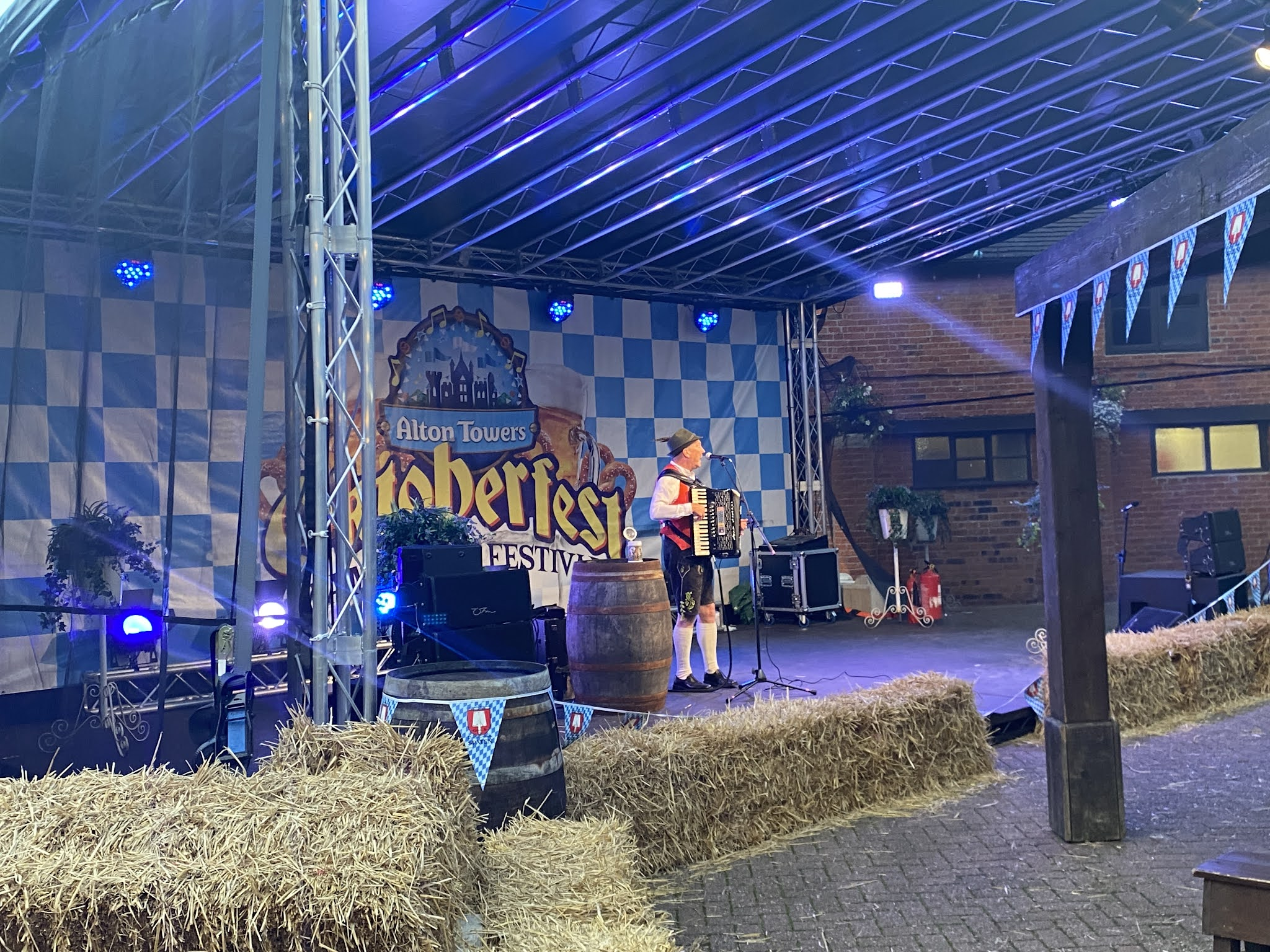 Oktoberfest stage at Alton Towers