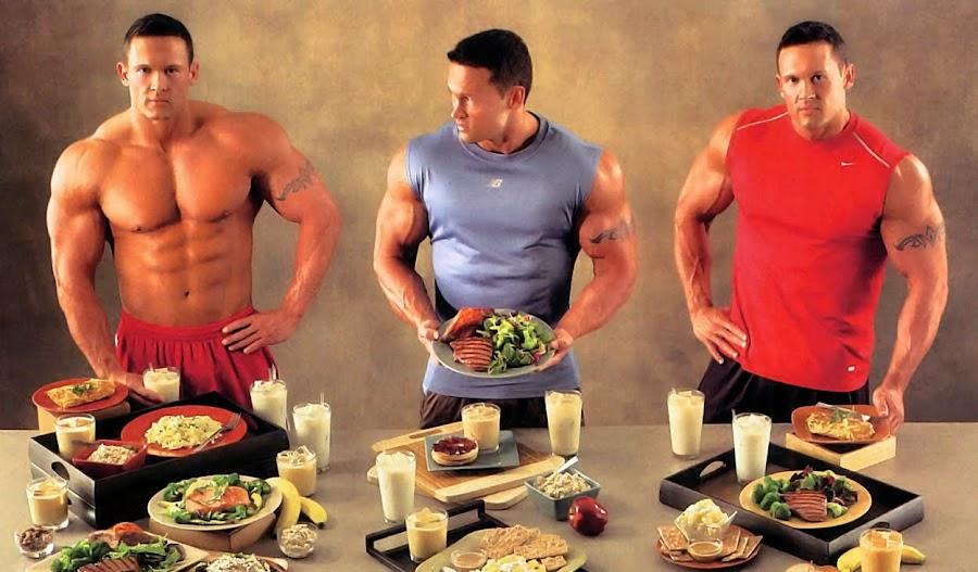 Buena alimentación y ejercicio para ganar muscular