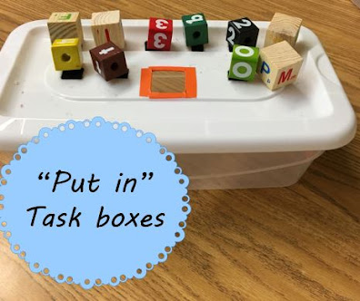Put In Task Boxes in Special Education