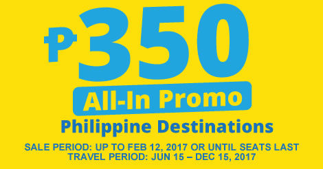 Cebu Pacific 350 All-In Promo Fares