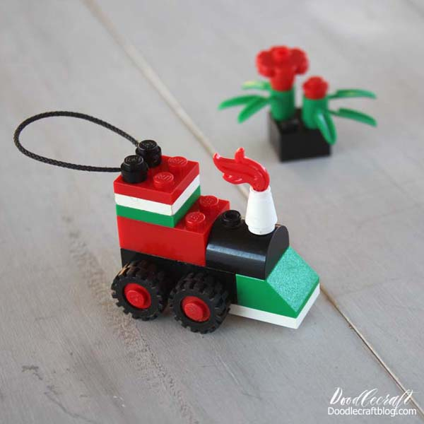 Lego Christmas ornament - train