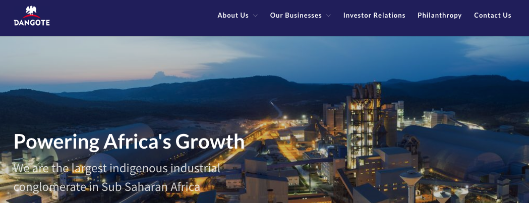 Dangote Group Recruitment Portal 2020