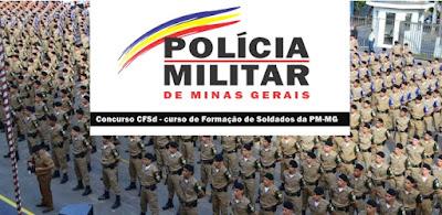 Concurso PM-MG: sai edital CFSd 2019 com 1.560 vagas de soldado
