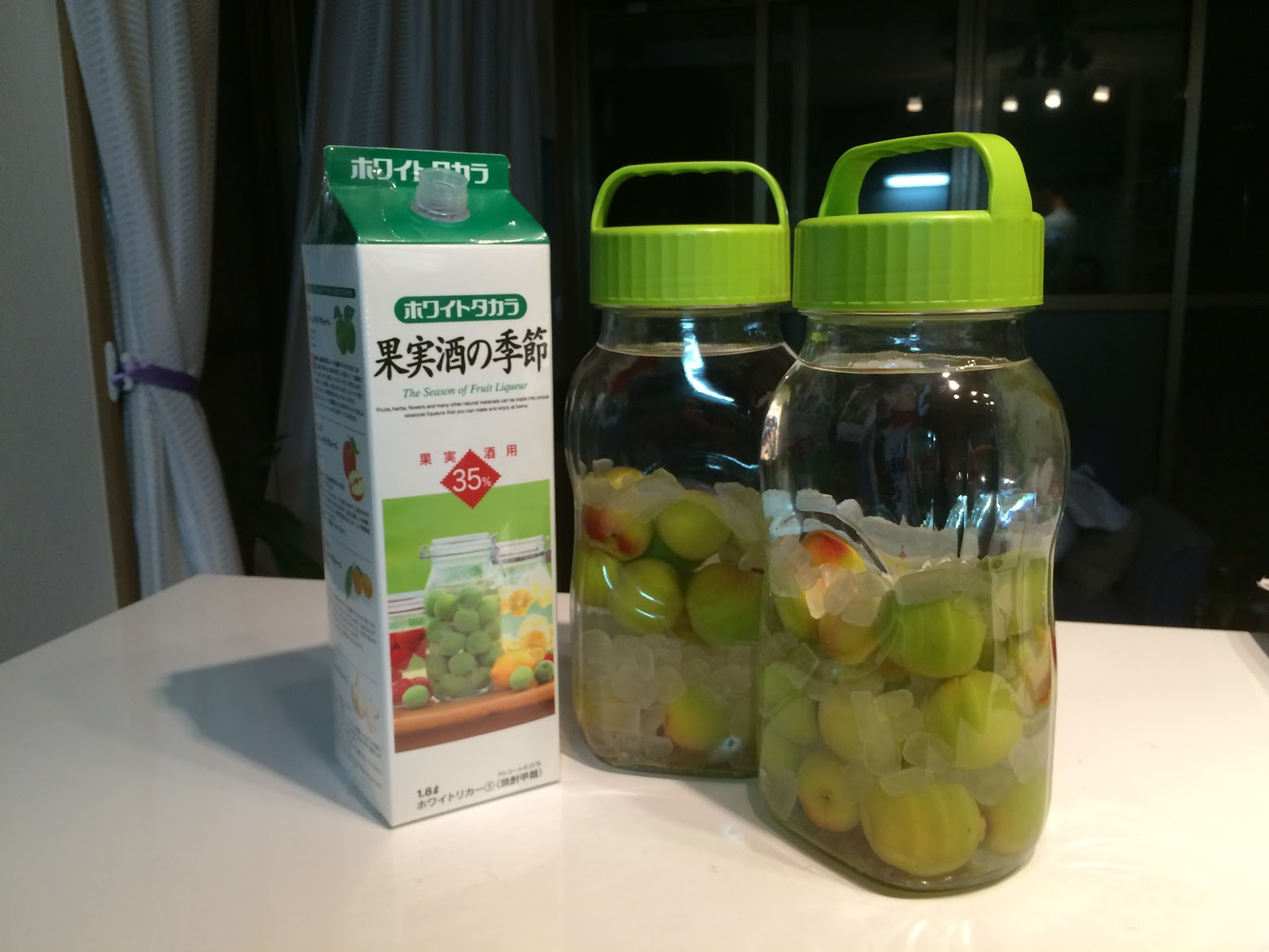 how to make your own japanese plum wine umeshu. Black Bedroom Furniture Sets. Home Design Ideas