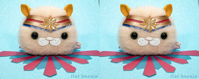San Diego Comic-Con 2019 Exclusive Captain Meowvel Hairball Plush by Flat Bonnie