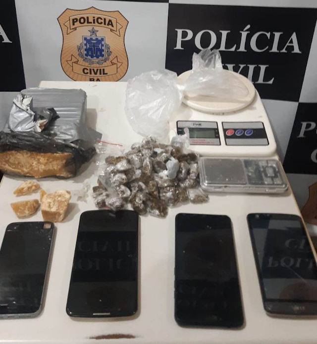 Polícia Civil apreende drogas em residência na cidade de Santo Antônio de Jesus