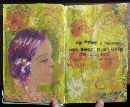 Whoopidooings (Carmen Wing) Spring Art Journal Page - Kahlil Gibran quote