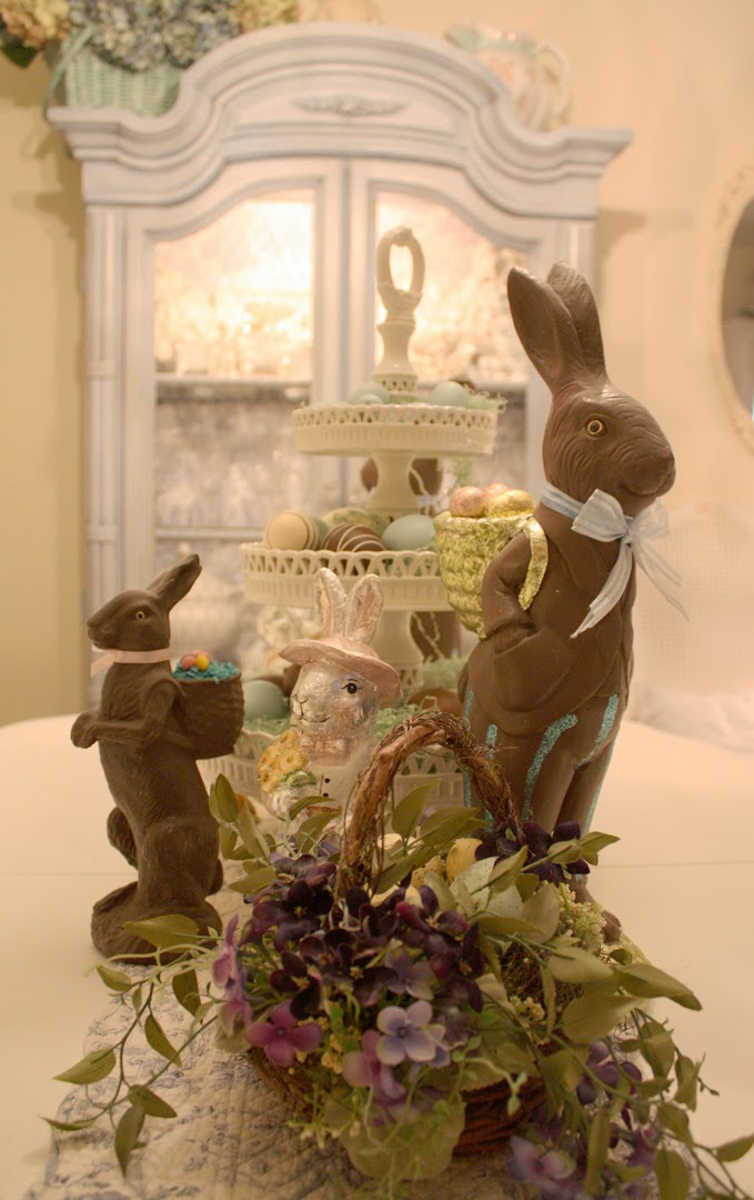 Romantic Homes Decorating: My Romantic Home: Easter Decor From The Past