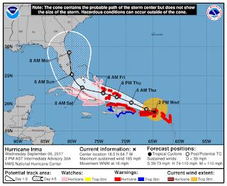 Hurricane Irma cone