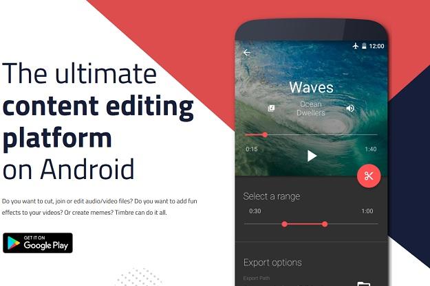 Timbre - Μία εντελώς δωρεάν εφαρμογή για επεξεργασία βίντεο και ήχου σε Android smartphones
