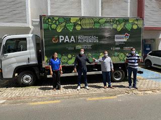 GOVERNADOR NEWTON BELLO-MA: Prefeitura recebe Caminhão para reforçar Programa de Aquisição de Alimentos-PAA no município.