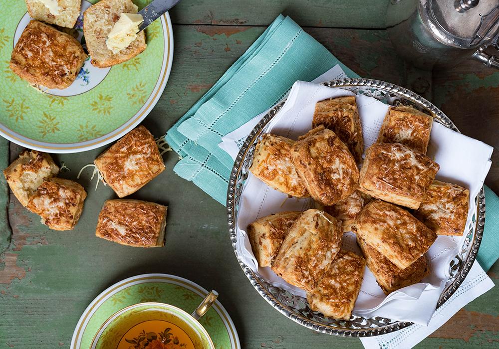 Bacon Cheddar Scones - British Breakfast -The Breakfast Club