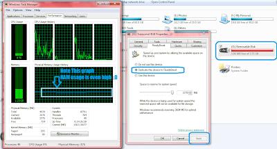 RAM and system resource usage before ReadyBoost: Intelligent Computing