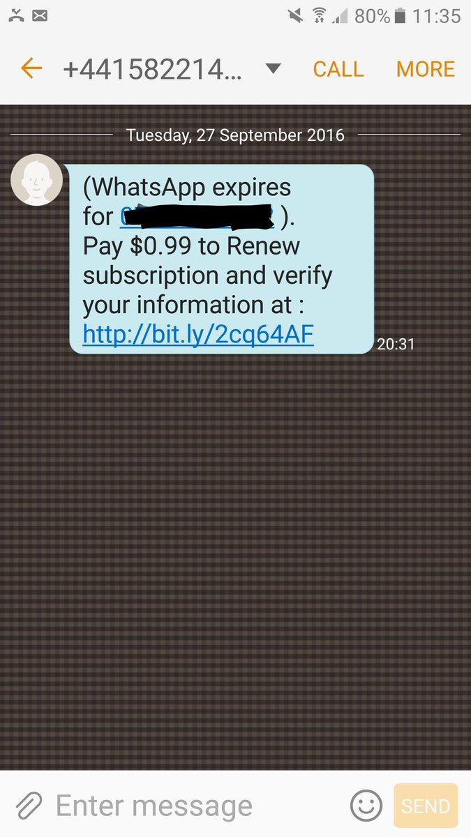 whatsapp expira cobro