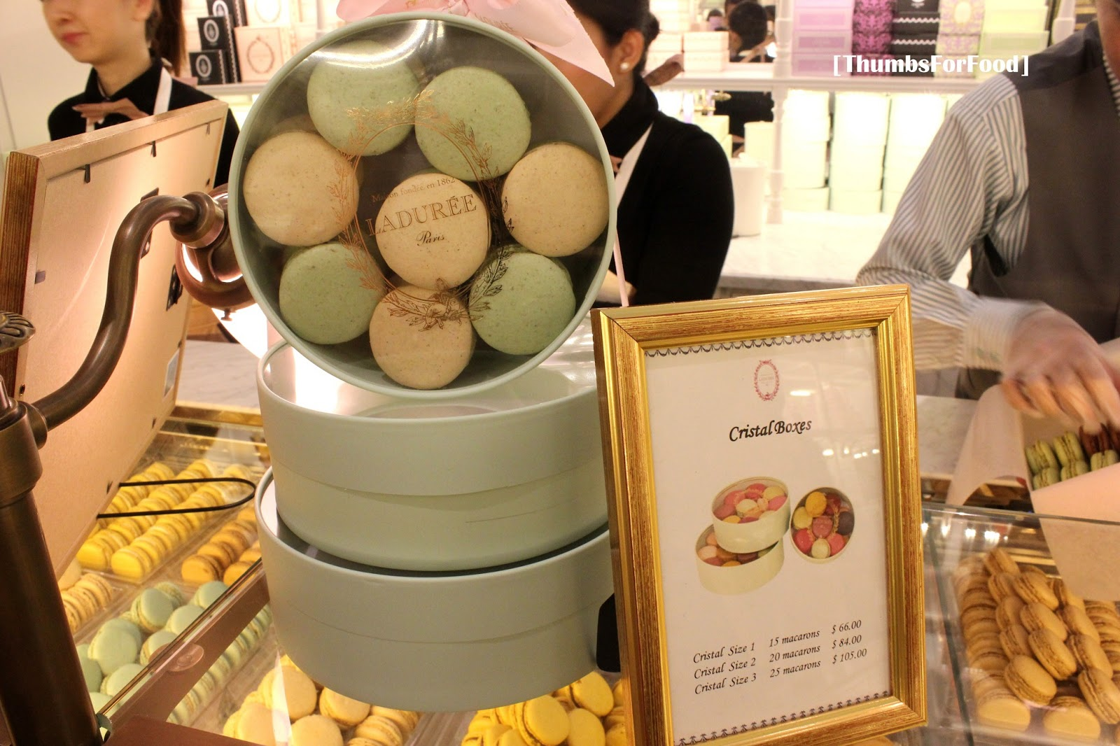 Yes This Is Their Special Gold Leaves Macaron It Around Double The Price Of A Normal I Was Surprised When Person Explained That Tasted
