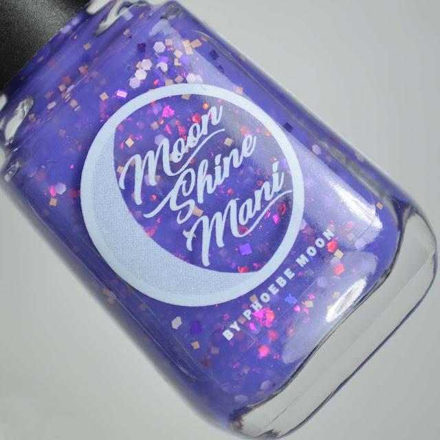purple nail polish in a bottle