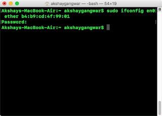 ম্যাক বুকের Mac address চেঞ্জ করে নিন একেবারে সহজে!!