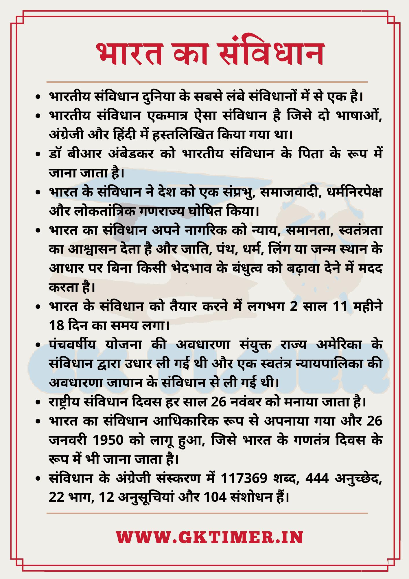 भारत के संविधान पर निबंध | Essay on Indian Constitution in Hindi | 10 Lines on Indian Constitution in Hindi