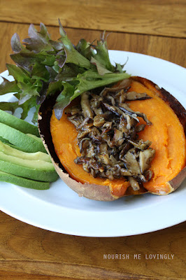 Loaded sweet potato - Mushroom