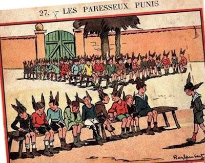Dessin de Ray-Lambert, illustrateur de manuels scolaires notamment de « Au Pays Bleu », livre de lecture-roman de Edouard Jauffret