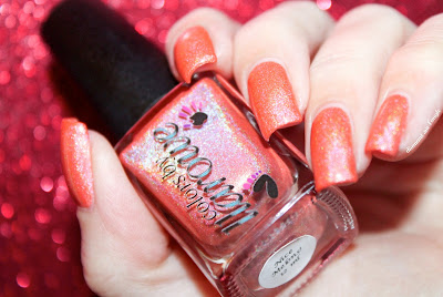 "Swatch of the nail polish ""Nice Melons"" fom CBL"