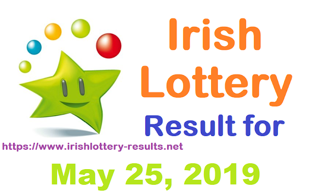 Irish Lottery Results for Saturday, May 25, 2019