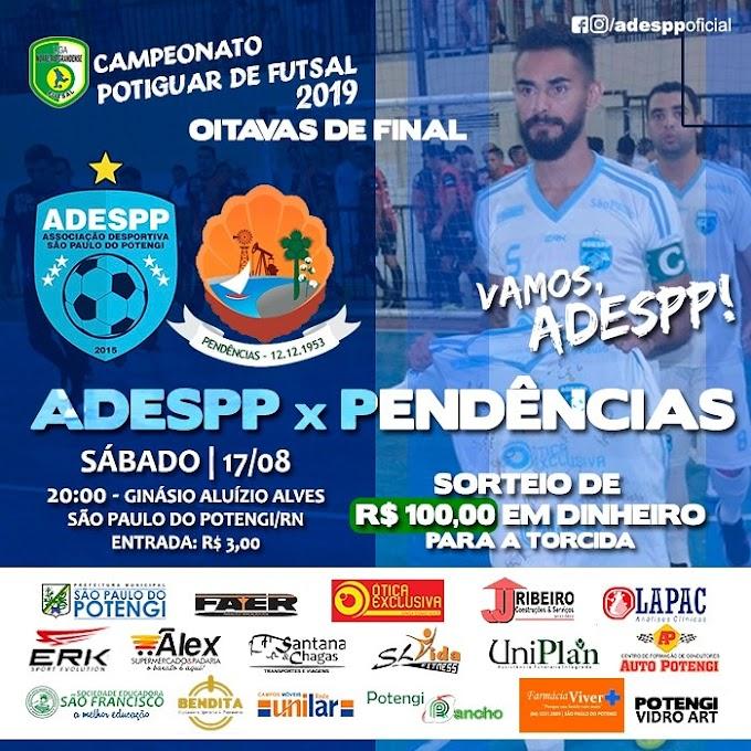 Atenção Torcedor Potengiense  Neste sábado tem ADESPP em quadra pela Liga Norteriograndense de Futsal