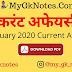 9 January 2020 Current Affairs PDF