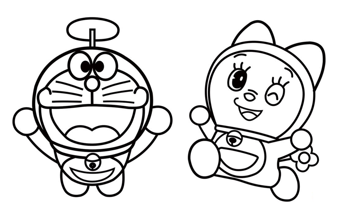 Kumpulan Gambar Kartun Doraemon Hitam Putih Background Wallpaper