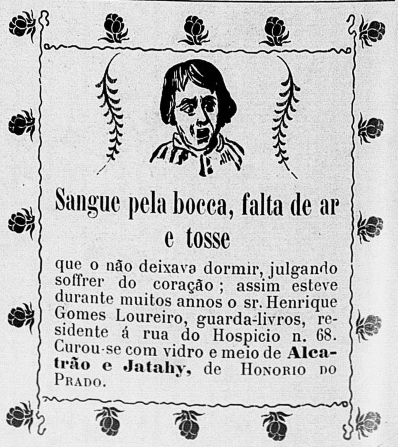 Anúncio de 1902 promovendo o Alcatrão e Jatahy de Honório do Prado em 1902
