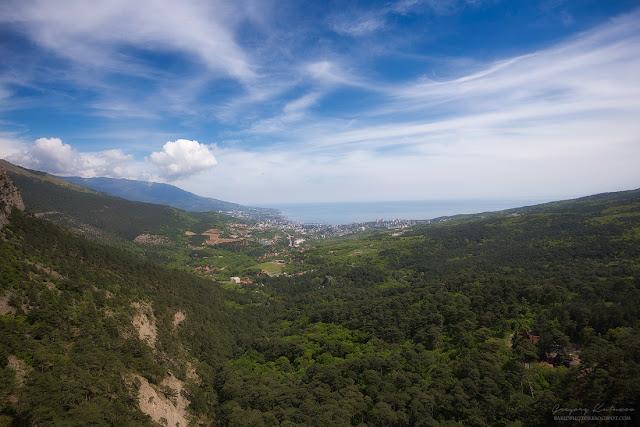 Вид на Ялту от Учан-Су. Крым