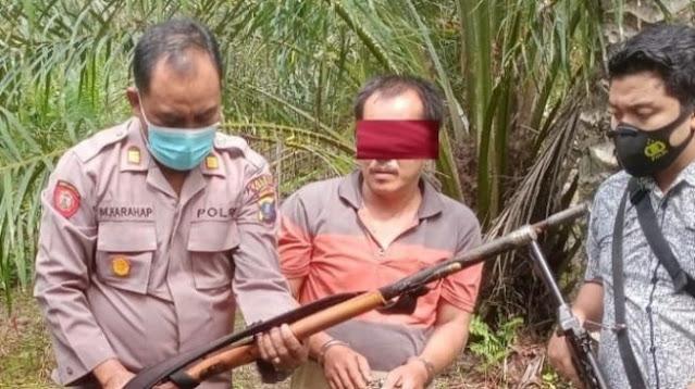 Dor! Seorang Ibu di Asahan Tertembak Senapan Anaknya Sendiri saat Kumpulkan Sawit