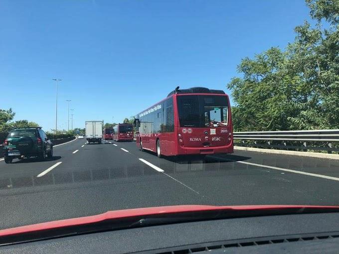 Avvistati sul GRA i nuovi bus Atac