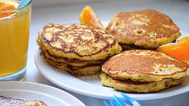 Pancakes με Πορτοκάλι & Νιφάδες Βρώμης