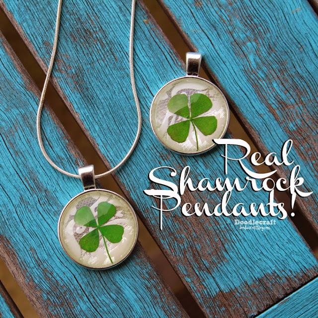 http://www.doodlecraftblog.com/2015/02/real-4-leaf-clover-shamrock-pendant.html
