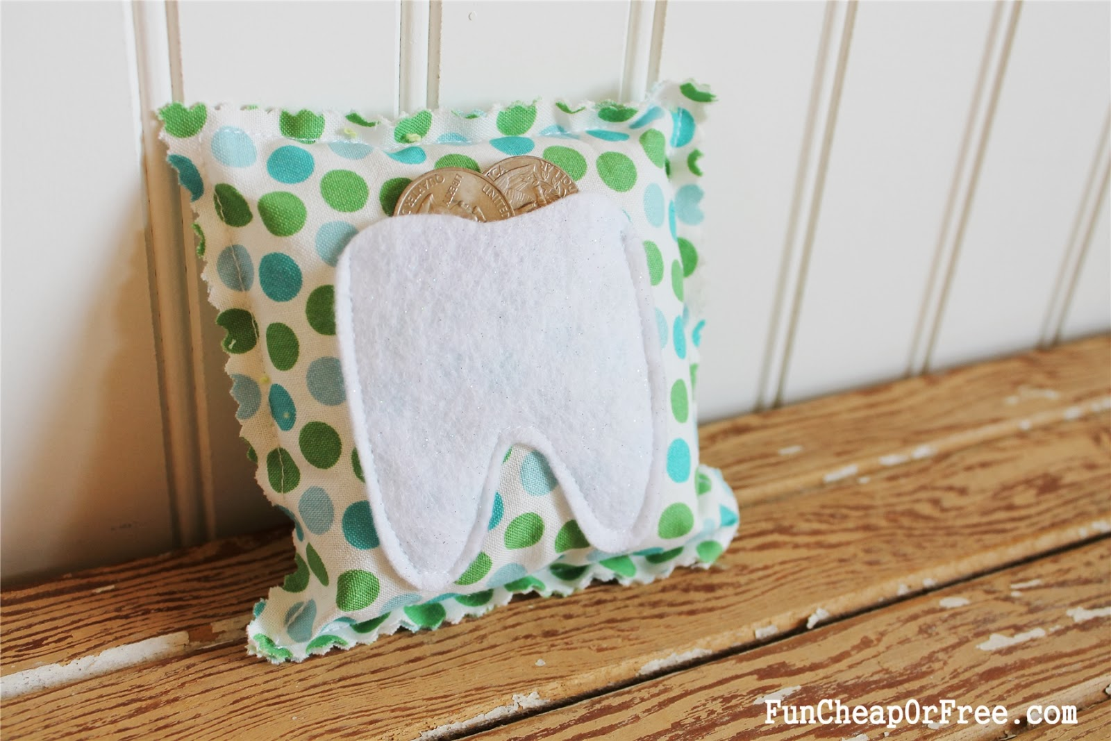 Super easy Tooth Fairy pillow tutorial