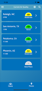 AirNow air quality app