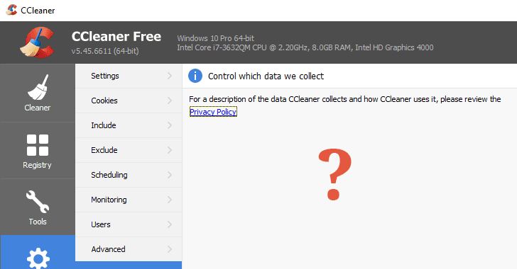 CCleaner Adds Data Collection Feature With No Way to Opt-Out