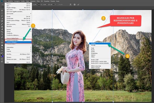 creare fotomontaggio con photoshop