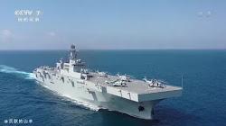 Hải quân Trung Quốc trình diễn khả năng của tàu tấn công đổ bộ mới