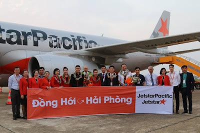 Jetstar tưng bừng khai trương đường bay mới Đồng Hới - Hải Phòng