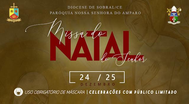 Paróquia de Senador Sá realizará missas de Natal na sede, Salão e Serrota nos dias 24 e 25 de Dezembro.