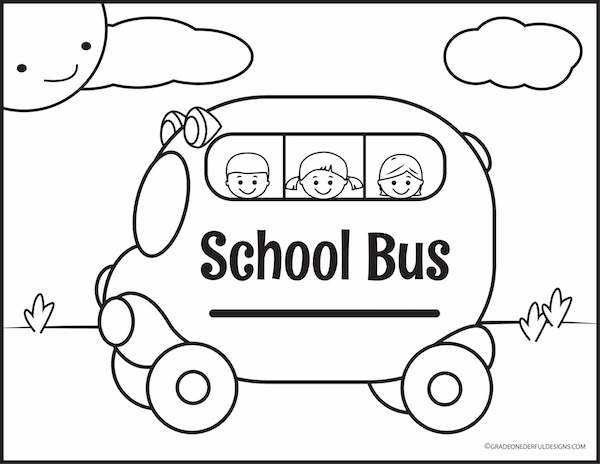 FREE school bus coloring page!