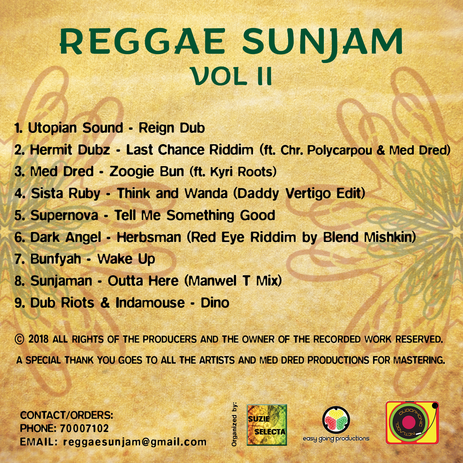 Various Artists - Reggae Sunjam Vol  2 [DUB009] - Dubophonic