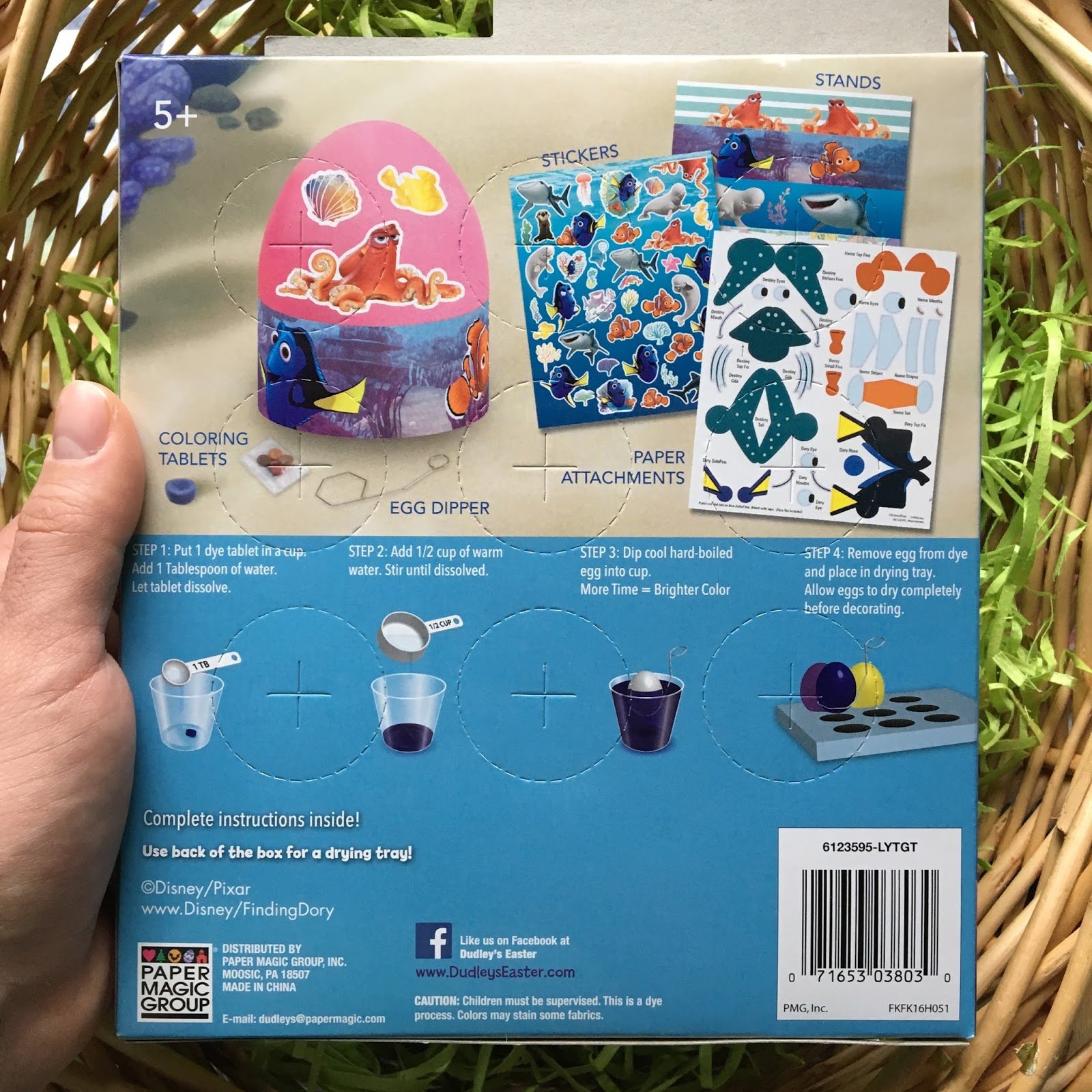 pixar Finding Dory Easter Egg Decorating Kit